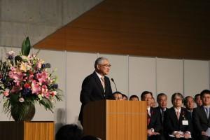 岩手の方言がとても温かい、千田会長のあいさつ。